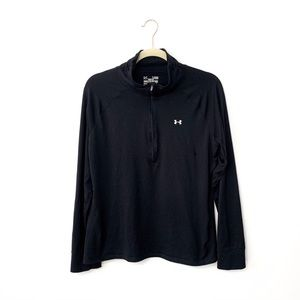 Under Armour Semi Fitted Black Quarter Zip Jacket